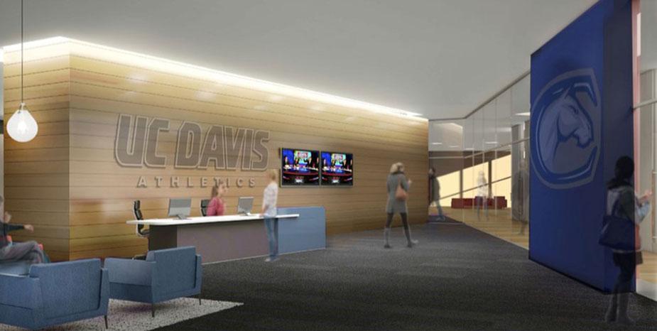 Inside the Student-Athlete Performance Center, artist's rendering